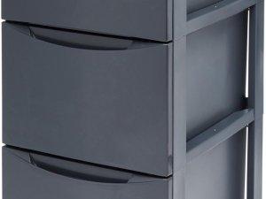 IRIS Style Chest Ladesysteem - 3 x 13L - Kunststof - Antraciet