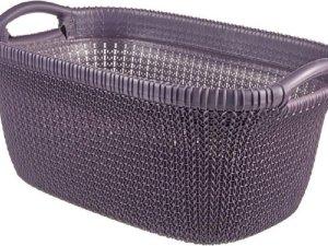 Knit Wasmand 40l Twilight Purple 60x39xh27cm (set van 4)