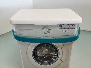 Opbergbox - voor wasmiddel - blauw met wasmachine