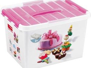 Sunware Q-Line Opbergbox - 22L - Voor 22 Cupcakes - Baking Decor