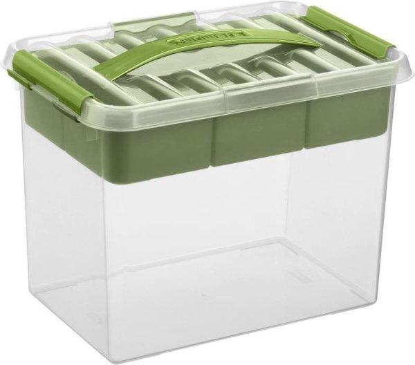 Sunware Q-Line Opbergbox - 9L - Met Tray - Transparant/Groen