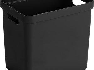 Sunware Sigma Home Opbergbox 25L - zwart - 35 x 25 x 36,3 cm