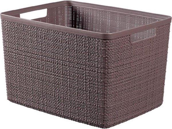 Jute Opbergbox Peppercorn Large 20l 36,2x28,2xh23cm (set van 3)