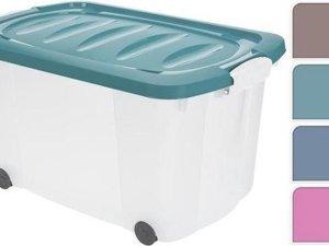 Opbergbox 60 Liter op wielen Opbergbox/Multibox/Opbergkist/Kisten/Multibox