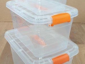 Opbergbox met deksel - Transparant - 5/10/15L - 3 Stuks