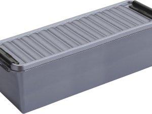 Sunware Q-Line opbergboxen/opbergdozen 1,3 liter 20 x 15 x 14 cm kunststof - Praktische opslagboxen