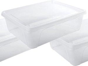 12x Voorraad/vershoudbakjes laag 2,5 liter transparant plastic/kunststof - 24 x 20 x 8 cm - Vienna - Vershouddoos bakjes - Mealprep - Maaltijden bewaren