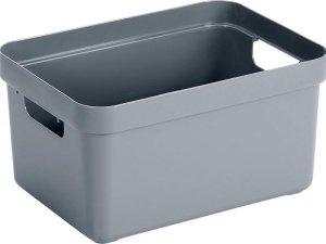 Blauwgrijze opbergboxen/opbergdozen/opbergmanden kunststof - 5 liter - opbergen manden/dozen/bakken - opbergers