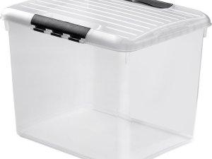 Curver Optima Opbergbox - 52 liter - Kunststof - Transparant
