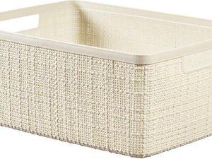 Jute Opbergbox Offwhite Medium 12l 36,2x28,2xh14,5cm (set van 3)