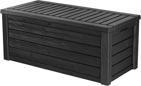 Keter kunststof opbergbox voor kussens 570 liter - 155 x 72 x 64 cm - Antraciet