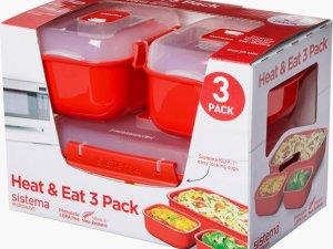 Sistema Microwave Magnetronbak - 3-Delige Set - Heat 'n eat - Stapelbaar