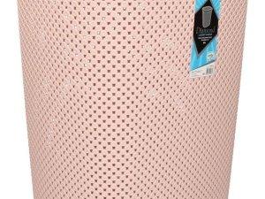 Wasmand met deksel oud roze 60 liter - Kunststof wasmanden - Huishoudelijke producten