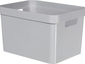Curver Infinity Opbergbox - 17 liter - kunststof - grijs
