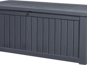Keter Rockwood Opbergbox - Grafiet - 517 L - 155x72,4x64,4cm