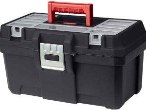 Keter Vulcano - Opbergbox - 30 Liter - Zwart - 43x36x26cm - (Set van 6) En Yourkitchen E-kookboek - Heerlijke Smulrecepten