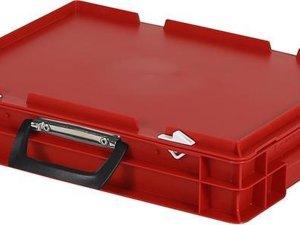 Koffer - Opbergbox - 400x300xH90mm - rood