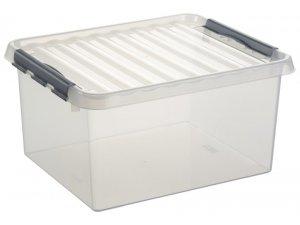 Sunware Q-line opbergbox 36ltr transp.