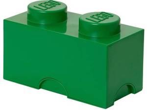 Lego Brick 2 Opbergbox - Donkergroen