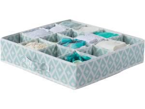 Compactor Opbergbox 40 Cm Polypropyleen Blauw/wit