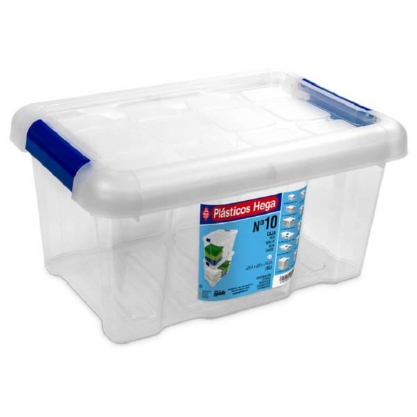 1x Opbergboxen/opbergdozen Met Deksel 5 Liter Kunststof Transparant/blauw - 29 X 20 X 15 Cm - Opbergbakken