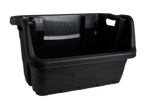 Bak stapelbaar - zwart - 60x37x35 cm