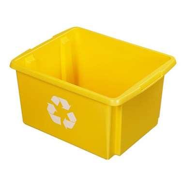 Nesta eco opbergbox 32 liter - geel - 24x36x45