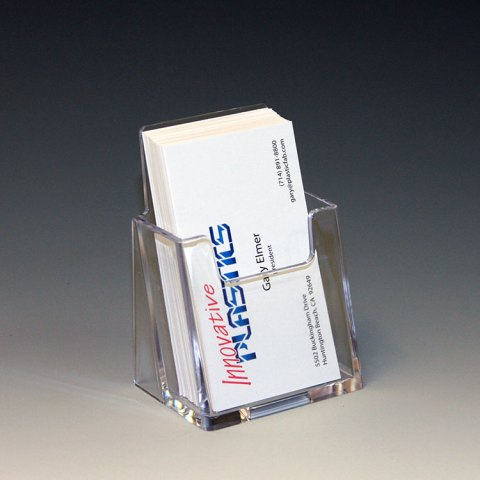 Plastic Business Card Holders   Business Card Displays by Innovative     Vertical Business Card Pocket More Images