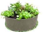 Garden Bed Plastic Circle Recycled Greenmongrel By Plastic Forests