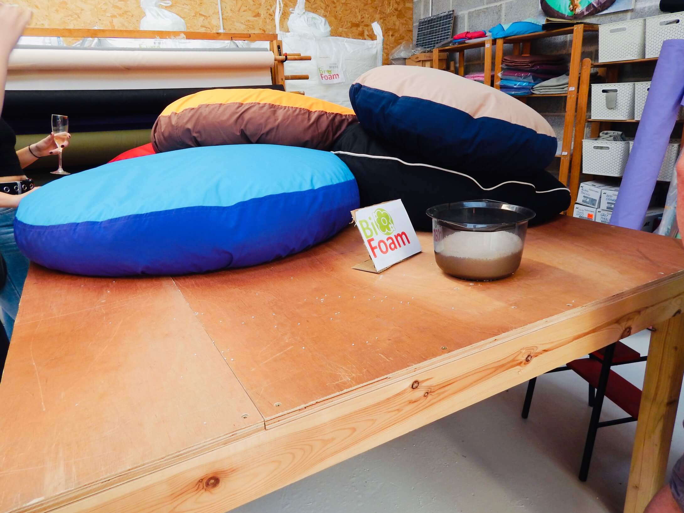 Selection of dog beds in the Barka Parka workshop