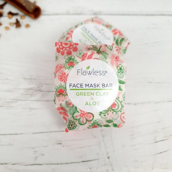 French Green Clay Face Mask Bar Plastic Free Vegan