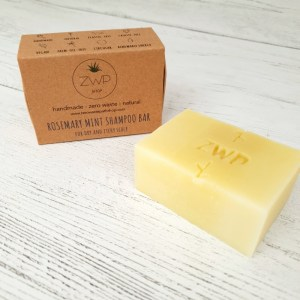 Rosemary and mint natural shampoo bar