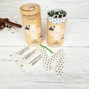Organic Bamboo Biodegradable Plasters - Panda design 3