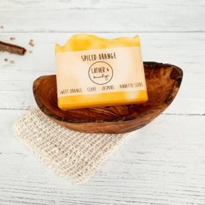 Spiced Orange Natural Vegan Soap Bar 2