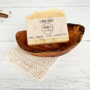 Sweet lemon and Vetiver Natural Vegan Soap Bar - Lemon Grove 2