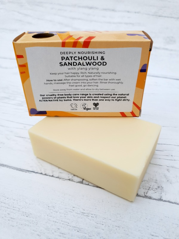 Patchouli and Sandalwood conditioner bar