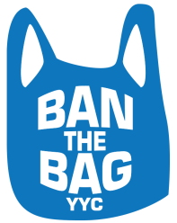 Ban the bag YYC - blue logo