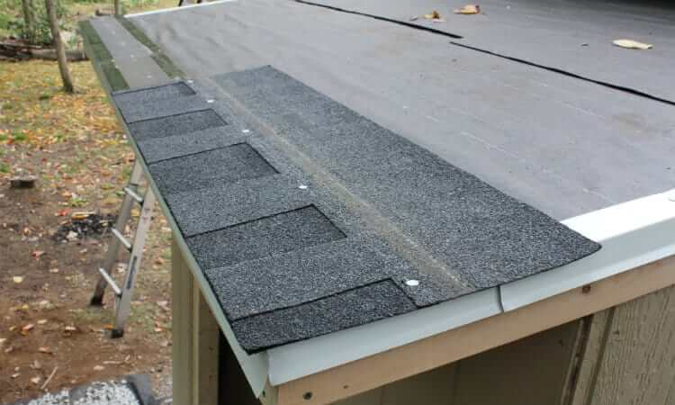 maintain shed by installing shingle