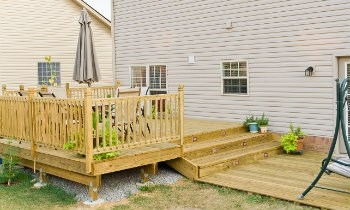 How To Build Deck Steps Without Stringers | Building Deck Steps With Stringers | Landing | Stair Treads | Deck Railings | Outdoor | Pressure Treated