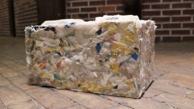 Foto de Pesquisadores brasileiros criam bloco de concreto com resíduos plásticos
