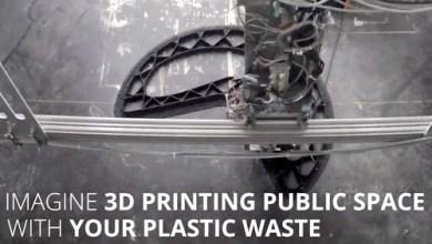 Foto de Lixo plástico, reciclagem, impressora 3D, sustentabilidade, Print Your City