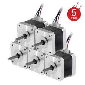 5 unids/lote Nema 17 nueva versión Motor paso a paso para impresora 3D(17HS4401) 4-wire colors  17HS4401-XH2.54 42