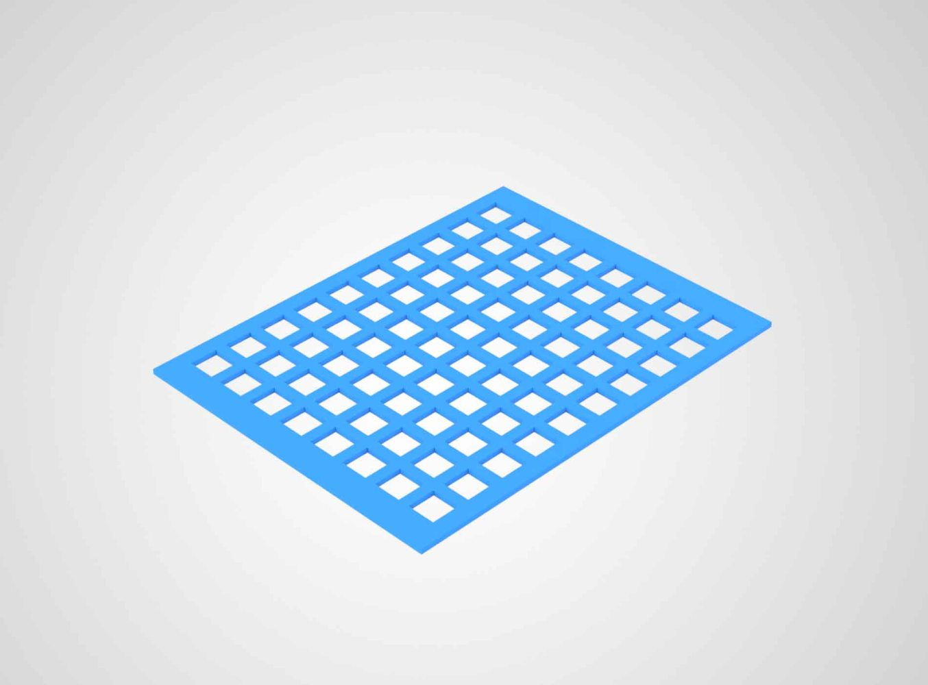 Perforated plastic sheets_rectangle with Background