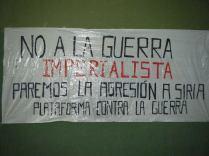 Pancarta NO A LA GUERRA IMPERIALISTA