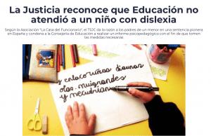 Sentencia sobre la dislexia en Canarias
