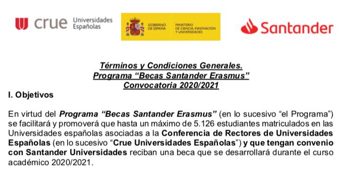 BECAS Santander para Alumnado Universitario con DEAs