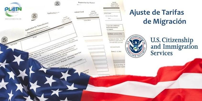 Ajuste en tarifas de migracion en USA