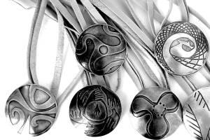 Colgantes en Plata Y Cobre / Copper And Silver Pendants
