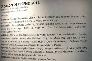 Salón de Diseño Contemporáneo Virla 2011 Tucumán Argentina