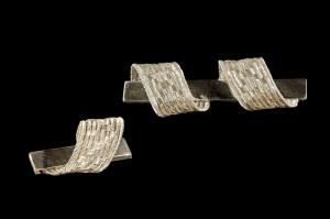 Broches Senderos Hilo de plata en telar